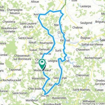 Montembeuf-Chasseneuil 102km