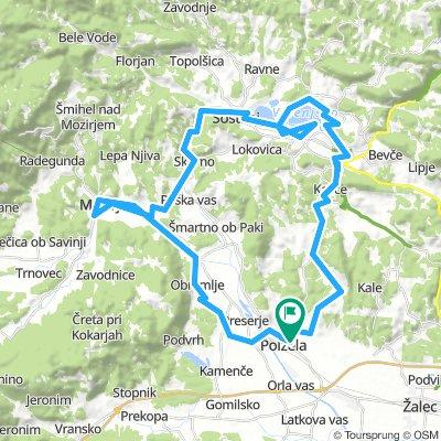 Polzela-Velenje-Šoštanj-Mozirje-Polzela