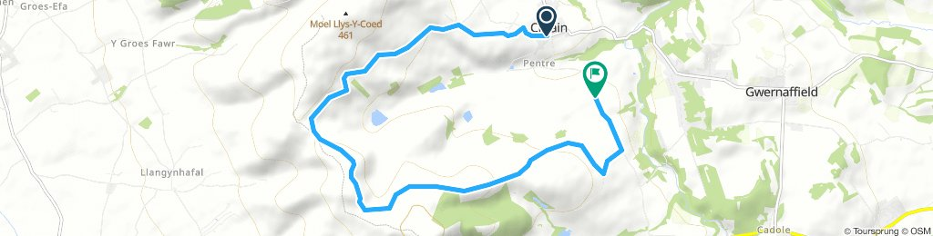 MTB Route In Mold