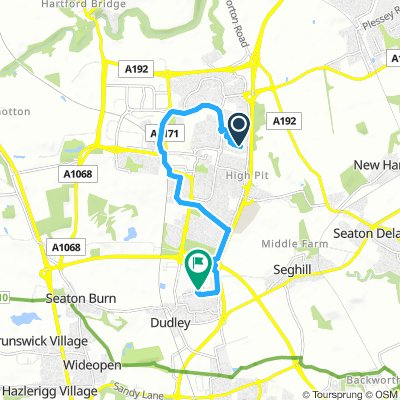 Steady Morning Route In Cramlington
