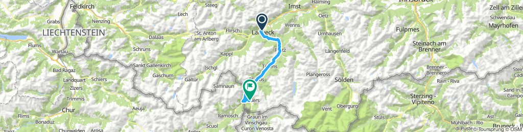 Landeck - Nauders Radweg