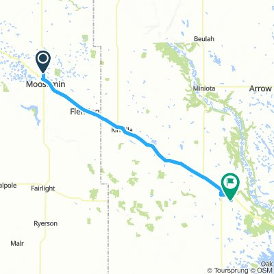 4of12 MB - 01 Moosomin, SK to Virden, MB (Virden Lions Park Campground) 69km