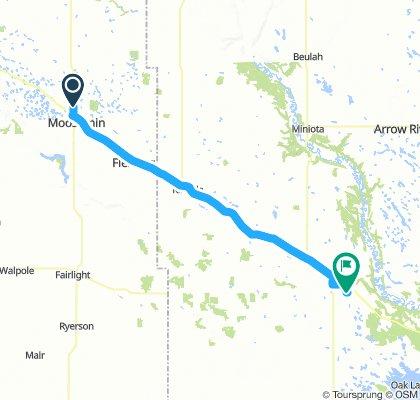 4of12 MB - 01 Moosomin, SK to Virden, MB (Virden Lions Park Campground) 69km
