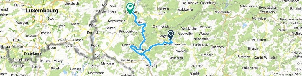 Saarland-Radweg 2.Etappe