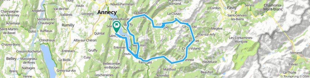 Saint-Jorioz-Cols Foclaz-Croix Fry-Aravis 120km-2150m