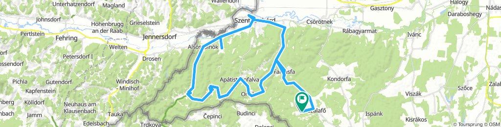 HU zöld útvonal /med Zelenimi parki na Madžarskem