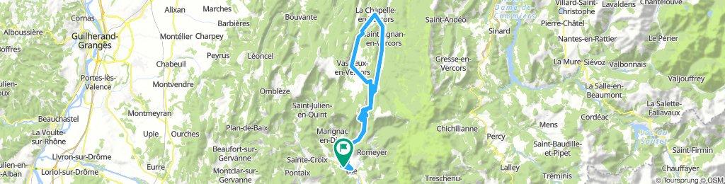 Die - Col du Rousset - La Chapelle-en-Vercors 85km-1600m