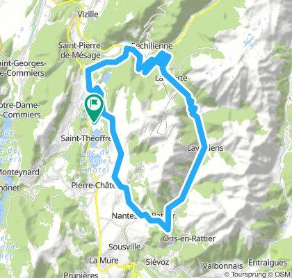 Lac de Laffrey - Col de la Morte - Col de Malissol 56km-1270m