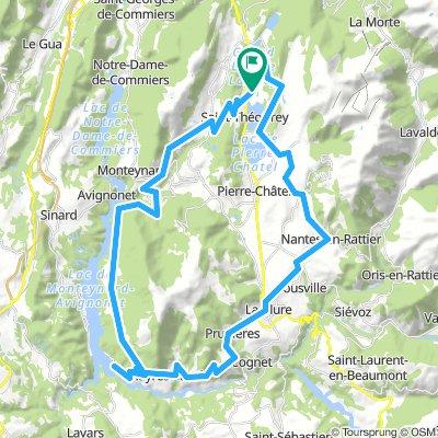 Lac de Laffrey - Savel - La Mure 65km-980m