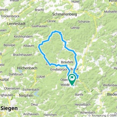 Waldroute zum Rhein-Weser-Turm