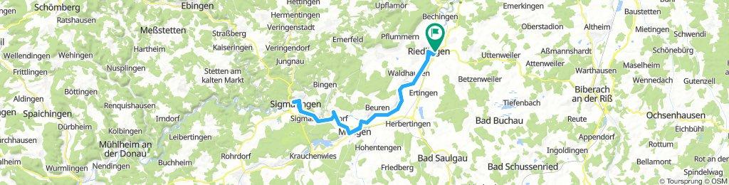 Donauradweg - Riedlingen - Sigmaringen und zurück - 2018-08-18 - MTB