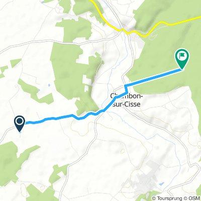 stukkie 5km vanaf prunay