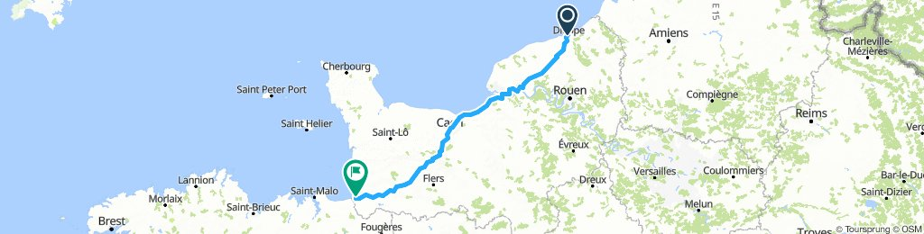 1: Dieppe to Mont St Michel