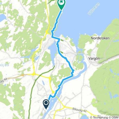 Trollhäötta Knorretorpsvägen nach Ursands badplats