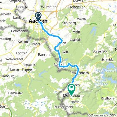 1.Etappe Aachen -Monschau  45 Km