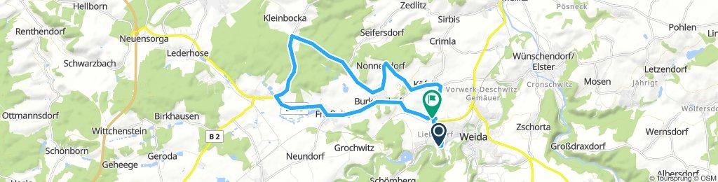 Weida-Hohe Reuth-Friesnitz-Burkersd.-Weida