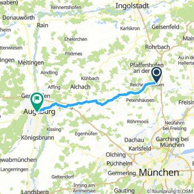 (7) Paunzhausen -  Augsburg Hbf.