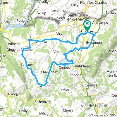 Circuit Neydens - Valleiry 48 km