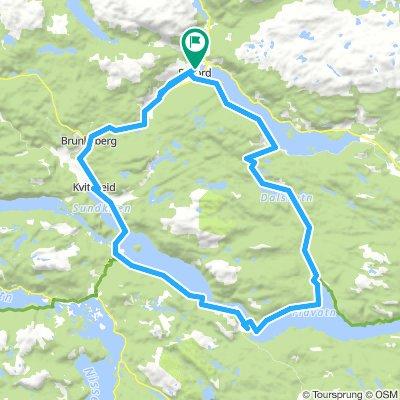 Sykkeltur Seljord - Kviteseid Telemarkskanalen