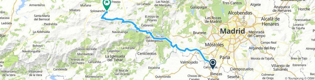 Ugena, Pelayos, El tiemblo, El barraco, San juan, Mironcillo