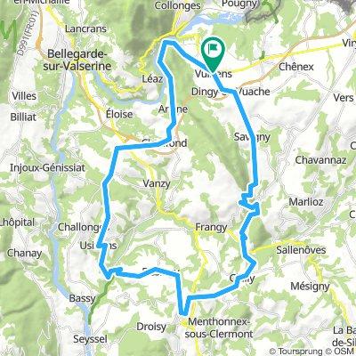 Circuit autour du Vuache, 54 km