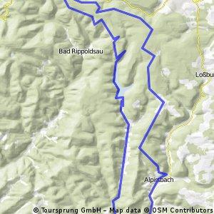 Alpirsbach zur Kniebishütte über Stausee zurück