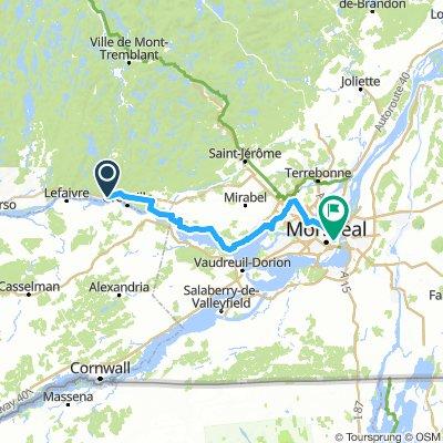 8of12 Quebec - 02 Grenville-sur-la-Rouge, QC to Montreal, QC (HI Montreal Hostel) 125km