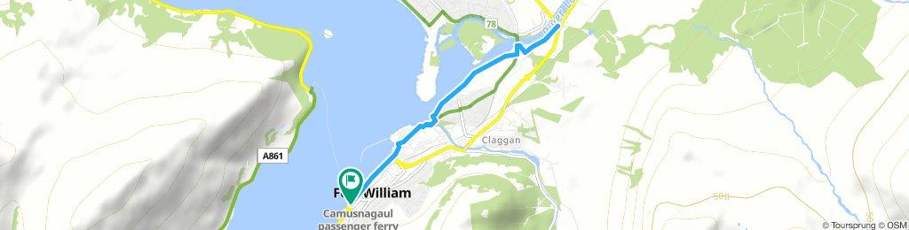 Fort William to Ben Nevis Distillery