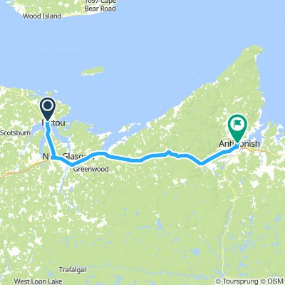 11of12 NS - 02a Pictou, NS to Antigonish, NS (Whidden Park Campground & Cottages) 74km