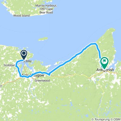 11of12 NS - 02b Pictou, NS to Antigonish, NS via New Glasgow and Sideroads (Whidden Park Campground & Cottages) 102km