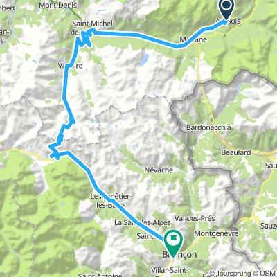 dag 4 Aussois - Briancon 95km