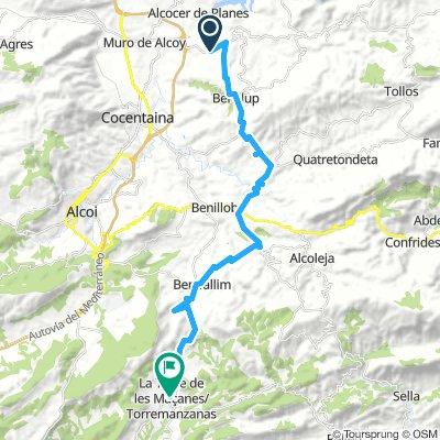 Benimarfull - Torremanzanas 31 km
