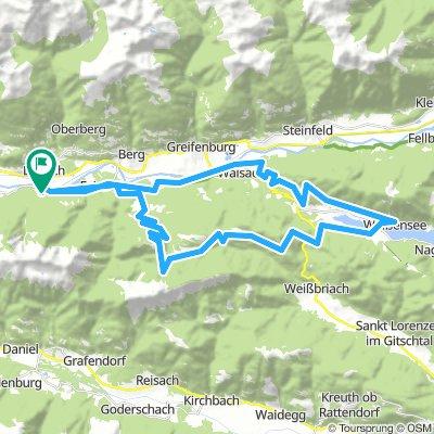 Dellach - Tröbelsberg - Weissensee - Comptonhütte