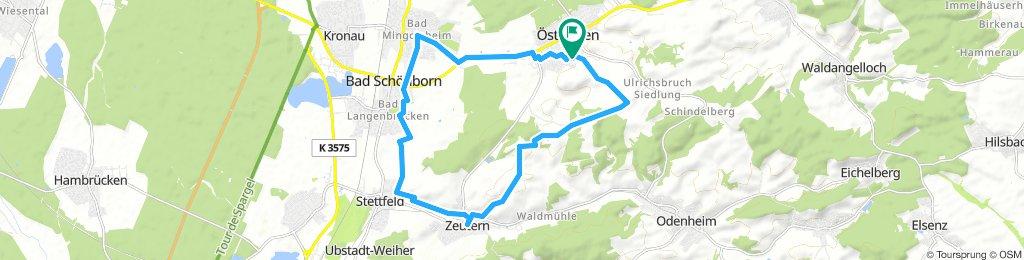 östringen - Zeutern -Bad Schönborn - Östringen