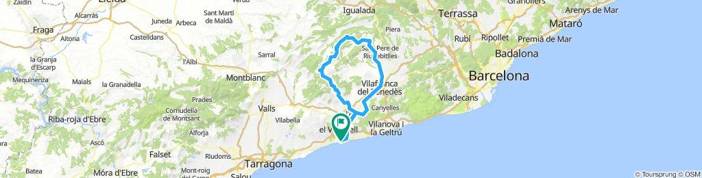 20180825 Sant Salvador-Bonany-La Llacuna-Sant Joan i Sant quintí de Mediona-Vilafranca-Torrelletes-Sant Salvador