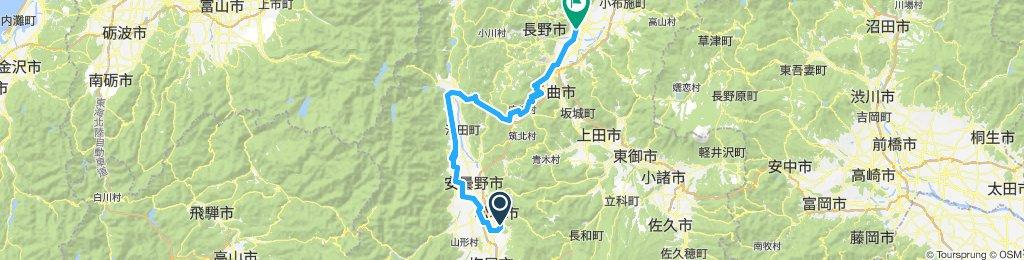 Matsumoto to Nagano via Omachi