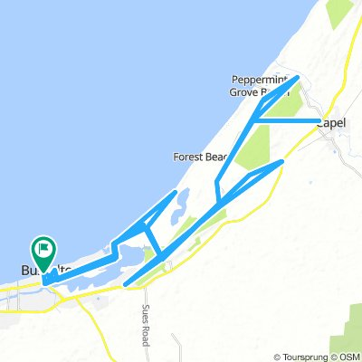 Cycling routes and bike maps in and around Busselton