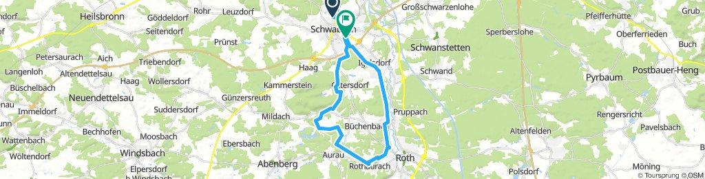 Schwabach-Rothaurach Aurachtal Trail