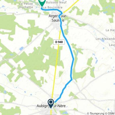 Aubigny to Canel Sauldre