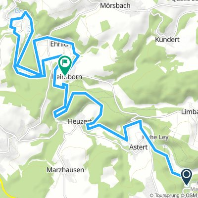 Long Montag Route In Müschenbach