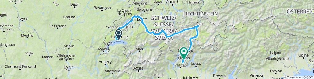 Switzerland 2019: Alpin pass route