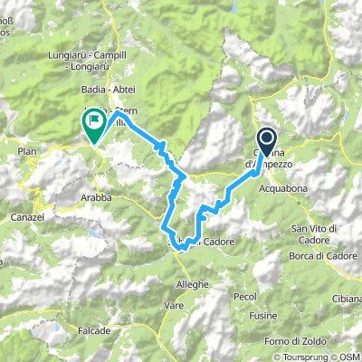 Cortina  to Corvara by Pso Giau & Falzarego