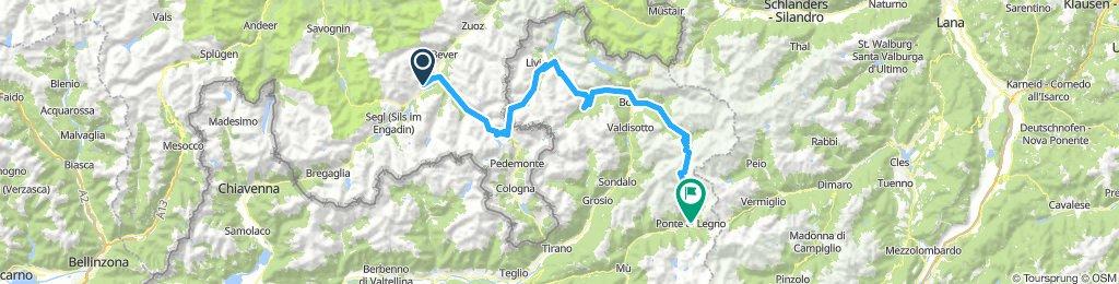 St.Moritz-Bernina-Bormio-Gavia-Ponte di Lengo 121km,2900hm