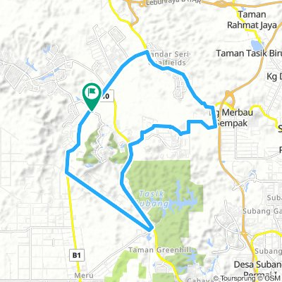 Training kayuhan Amal UiTM 1/9/18