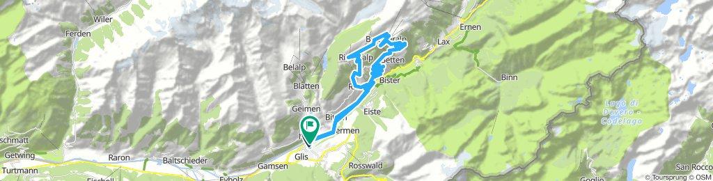 Brig - Goppisberg - Bettmeralp - Gopplerlücke - Riederalp - Ried-Mörel - Mörel -Brig