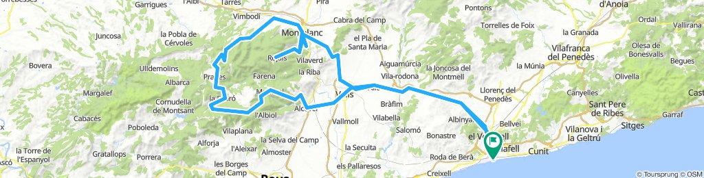 20180829 Sant Salvador-Valls-Mont Ral-La Mussara-Prades-Montblanc-Rojals-Montblanc-Valls-Sant Salvador