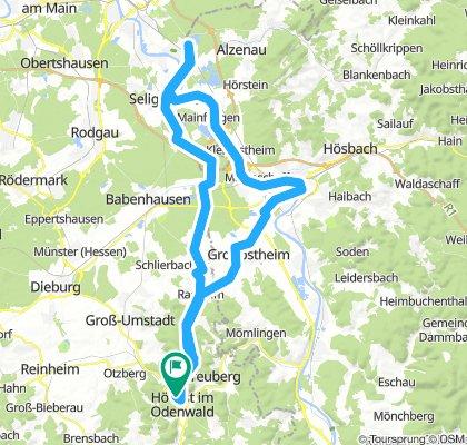 über den Wartturm, Kahl am Main, Aschaffenburg und wieder Heim