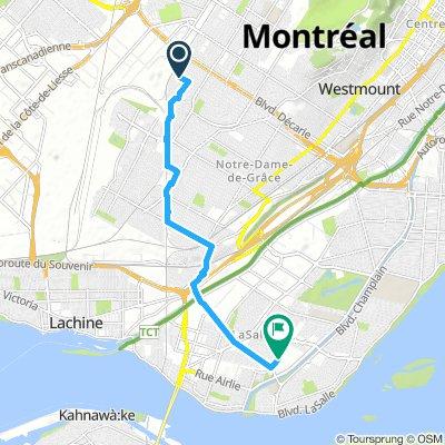 Bike route to fridge