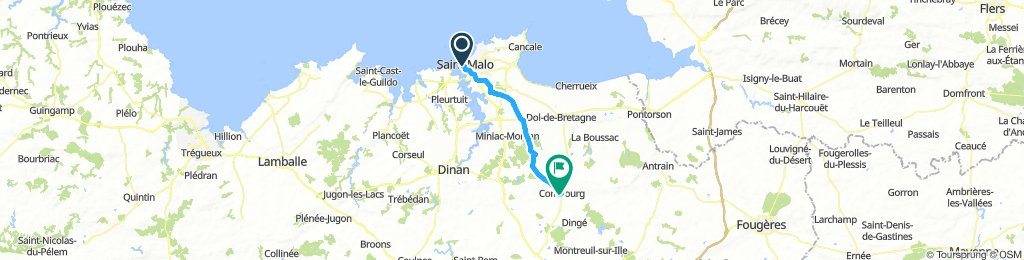 Saint Malo to Combourg 01 Sept 2018