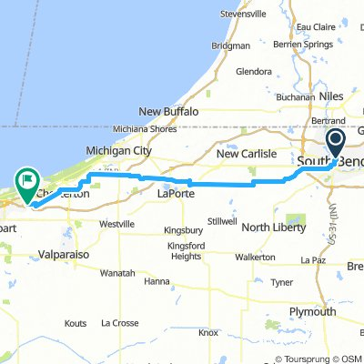 South Bend to Portage